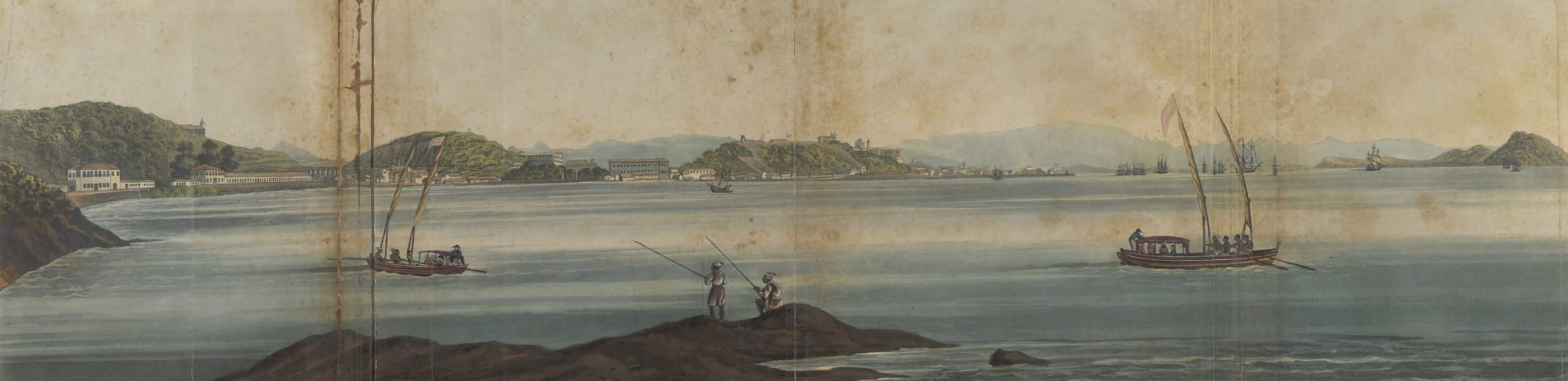 Views and Costumes of the City and Neighbourhood of Rio de Janeiro - Point of the Calhabouco from the Gloria (1822)