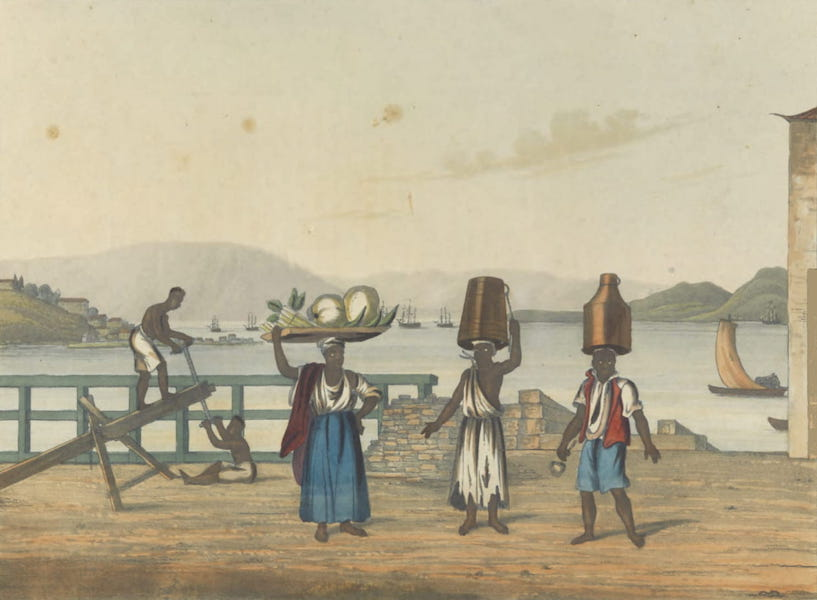 Views and Costumes of the City and Neighbourhood of Rio de Janeiro - View from the Landing Place at the Gloria (1822)