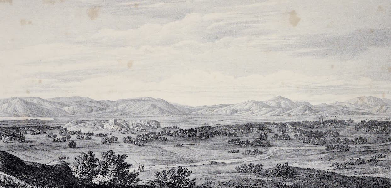 Views and descriptions of Cyclopian, or, Pelasgic remains - General View of Tiryns And the Plain of Argos [I] (1834)