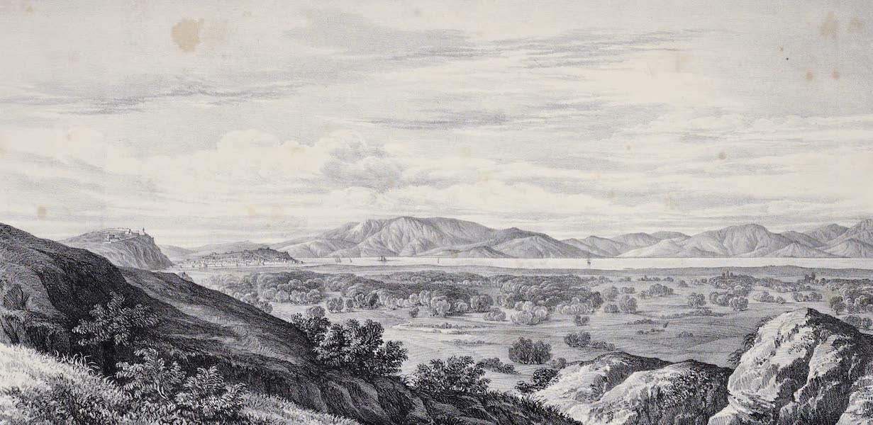 Views and descriptions of Cyclopian, or, Pelasgic remains - General View of Tiryns And the Plain of Argos [II] (1834)