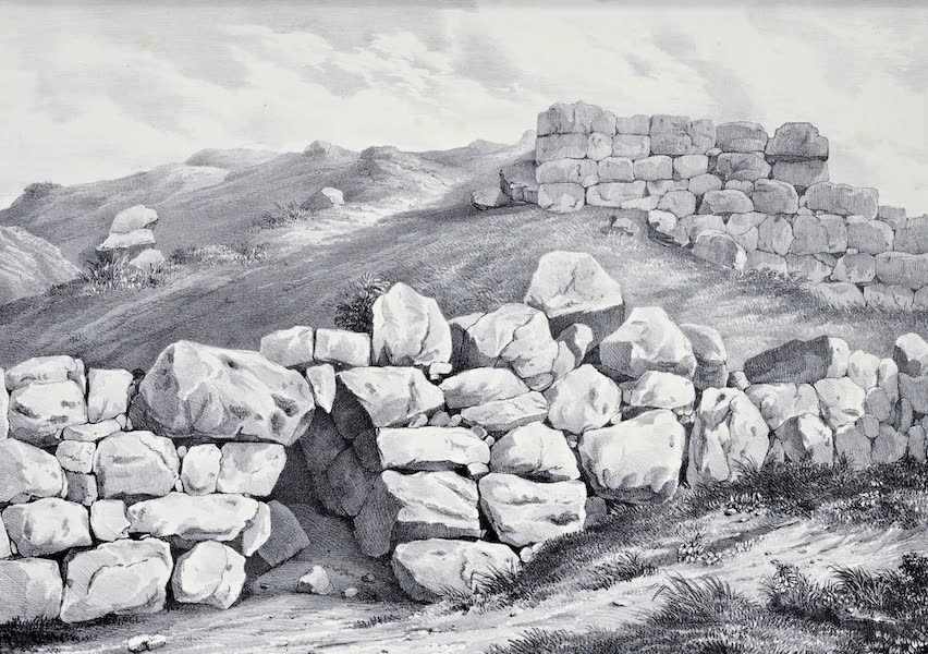 Views and descriptions of Cyclopian, or, Pelasgic remains - Pointed Gate at Tiryns (1834)