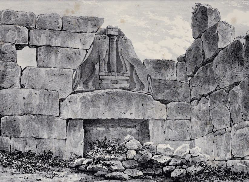 Views and descriptions of Cyclopian, or, Pelasgic remains - Gate of the Lions (1834)
