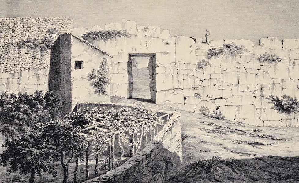 Views and descriptions of Cyclopian, or, Pelasgic remains - Great Gate at Alatrium (1834)