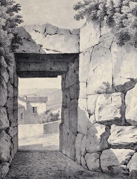 Views and descriptions of Cyclopian, or, Pelasgic remains - Interior of the Great Gate at Alatrium (1834)