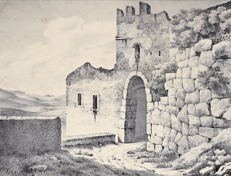 Views and descriptions of Cyclopian, or, Pelasgic remains - Another Gate at Alatrium (1834)