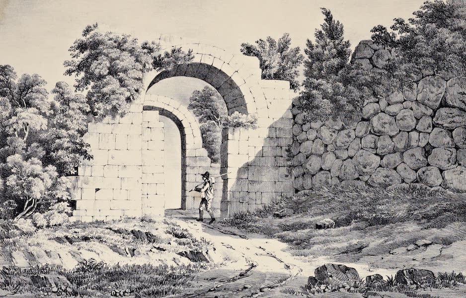 Views and descriptions of Cyclopian, or, Pelasgic remains - Polygon Walls and Roman Gate at Ferentinum (1834)