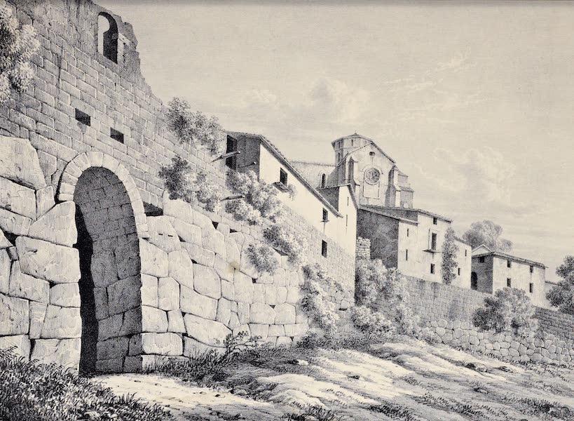 Views and descriptions of Cyclopian, or, Pelasgic remains - Porta Sanguinaria at Ferentinum (1834)