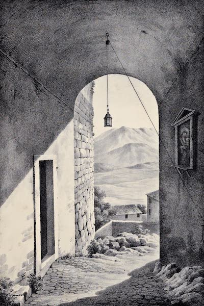 Views and descriptions of Cyclopian, or, Pelasgic remains - Another View of the Wall (1834)