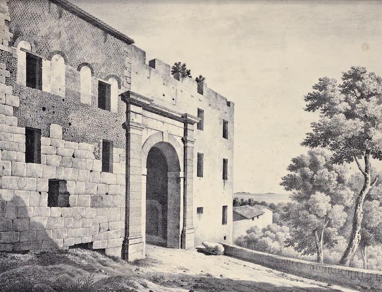 Views and descriptions of Cyclopian, or, Pelasgic remains - Ancient Walls and Modern Gate at Terracina (1834)