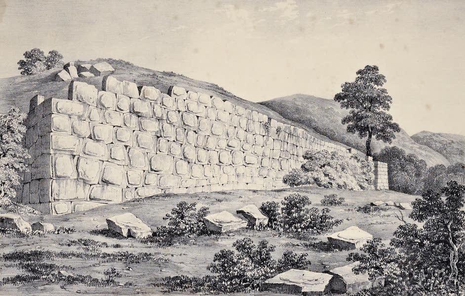Views and descriptions of Cyclopian, or, Pelasgic remains - Remains of a Temple near Terracina (1834)