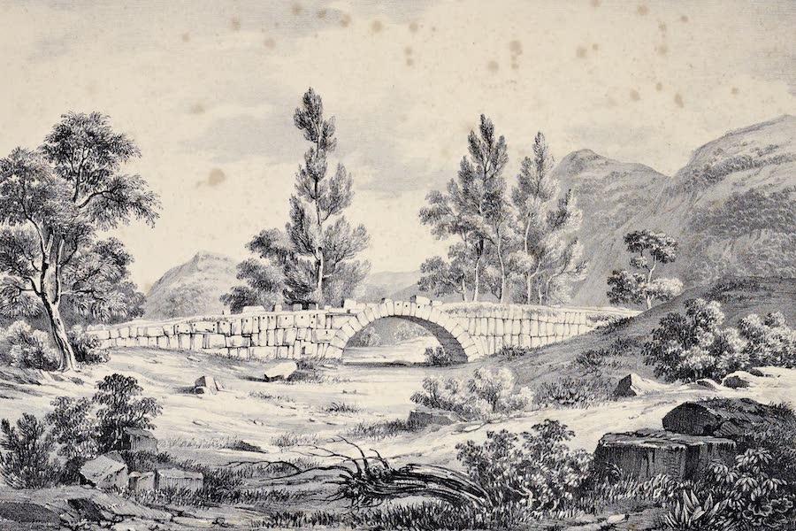 Views and descriptions of Cyclopian, or, Pelasgic remains - Remains of a Bridge at Terracina (1834)