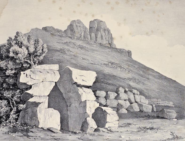 Views and descriptions of Cyclopian, or, Pelasgic remains - Aqueduct Three Miles From Terracina Towards Rome (1834)