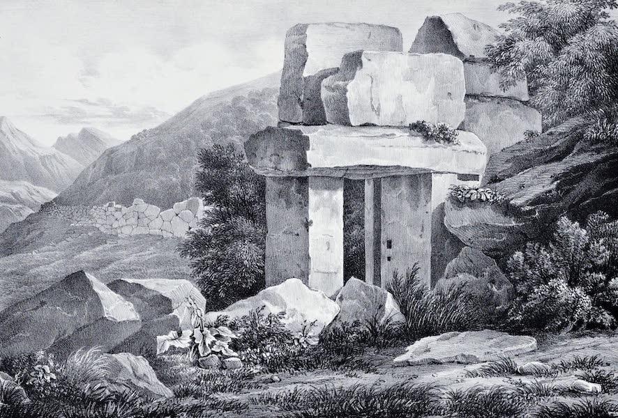 Views and descriptions of Cyclopian, or, Pelasgic remains - Small Gate of the Acropolis Mycenae (1834)