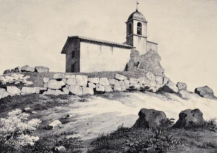 Views and descriptions of Cyclopian, or, Pelasgic remains - Walls at Praeneste [III] (1834)