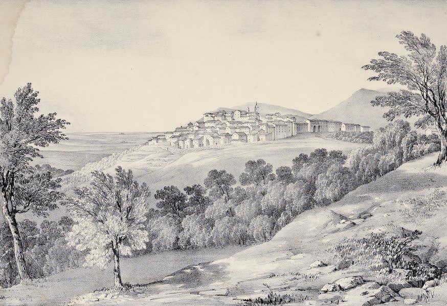 Views and descriptions of Cyclopian, or, Pelasgic remains - View of Sezze Ancient Setium (1834)
