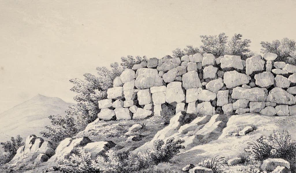 Views and descriptions of Cyclopian, or, Pelasgic remains - Walls at Setium [II] (1834)