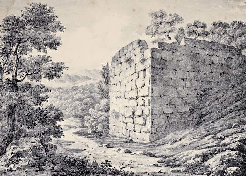 Views and descriptions of Cyclopian, or, Pelasgic remains - Walls at Setium [III] (1834)