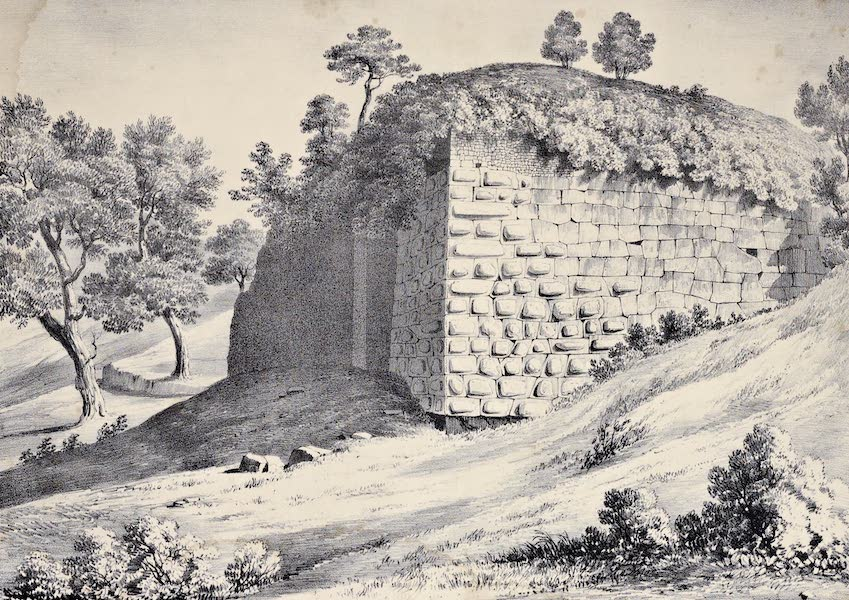 Views and descriptions of Cyclopian, or, Pelasgic remains - Remains of a Temple at Setium (1834)