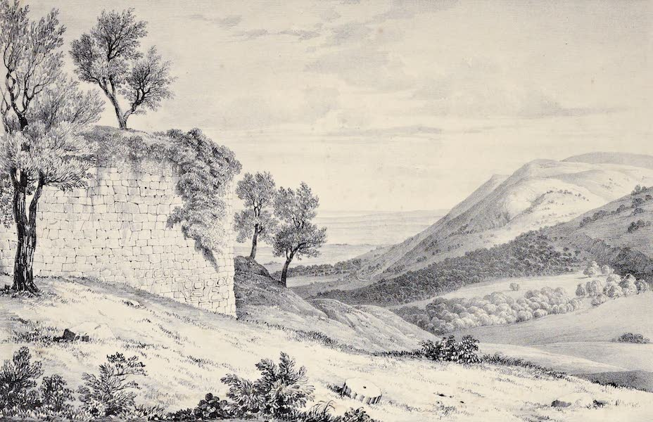 Views and descriptions of Cyclopian, or, Pelasgic remains - Remains of the Same Temple at Setium (1834)