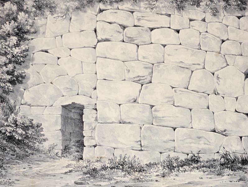 Views and descriptions of Cyclopian, or, Pelasgic remains - Walls at Revilacoila near Frascatl (1834)