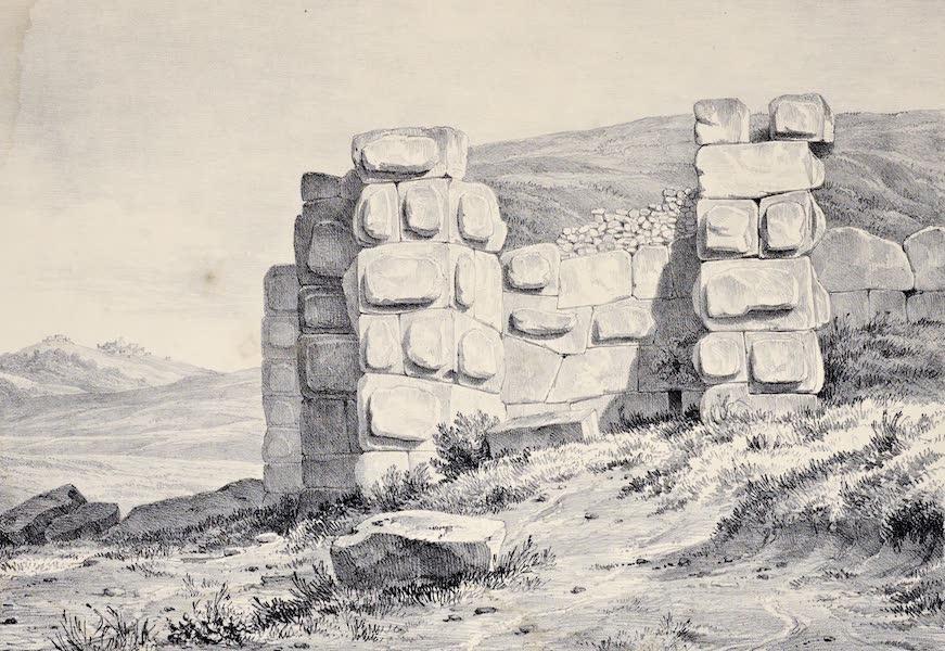 Views and descriptions of Cyclopian, or, Pelasgic remains - Walls at Colonocelli near Trivoli (1834)