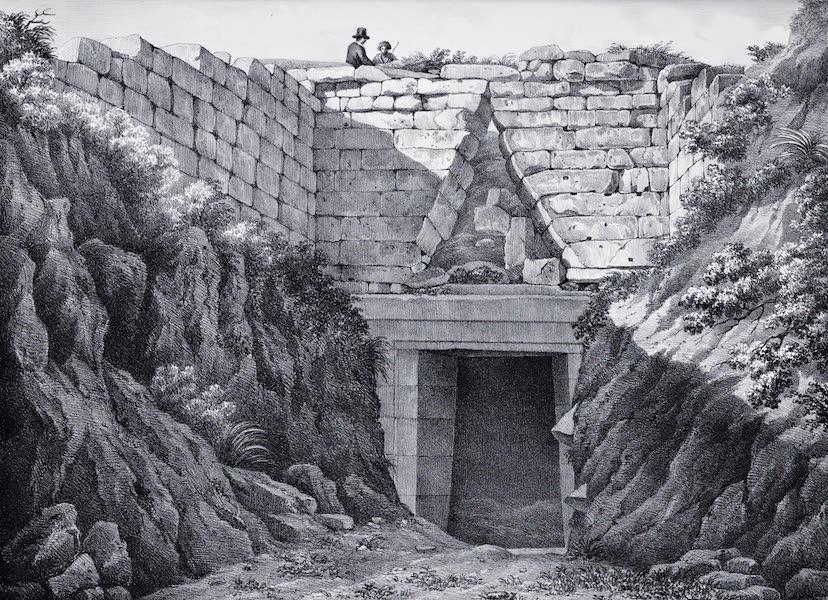 Views and descriptions of Cyclopian, or, Pelasgic remains - Exterior View of the Treasury of Atreus (1834)