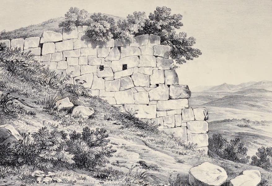 Views and descriptions of Cyclopian, or, Pelasgic remains - Walls at Vitriano near Tivoli (1834)