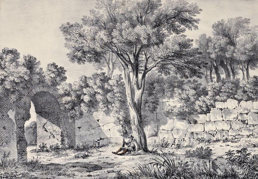 Views and descriptions of Cyclopian, or, Pelasgic remains - Walls at the Villa of Cassius near Tivoli (1834)