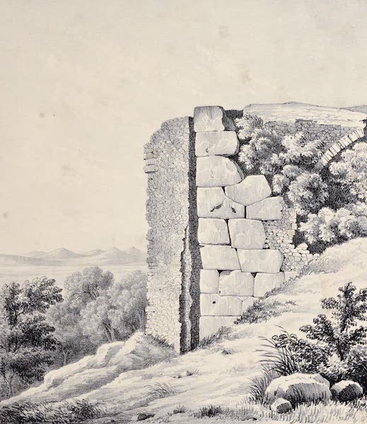 Views and descriptions of Cyclopian, or, Pelasgic remains - Walls on the Via Di Casciano near Tivoli [II] (1834)