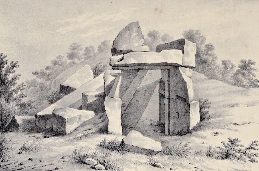 Views and descriptions of Cyclopian, or, Pelasgic remains - Ancient Sepulchre near Cortona (1834)