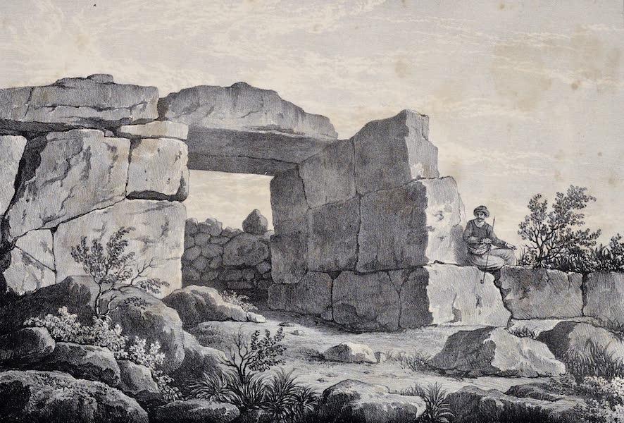 Views and descriptions of Cyclopian, or, Pelasgic remains - Gate of the Acropolis of Orchomenos (1834)