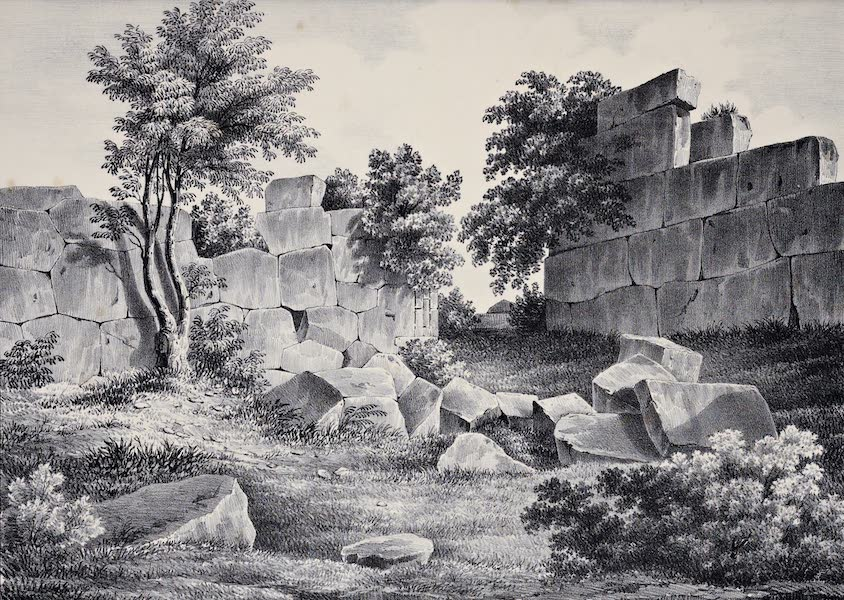 Views and descriptions of Cyclopian, or, Pelasgic remains - One of the Gates of Gortys (1834)