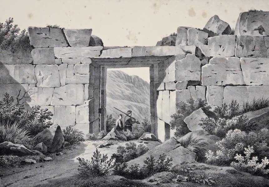 Views and descriptions of Cyclopian, or, Pelasgic remains - An Ancient Gate of the Ruined City near Mesaloggion (1834)