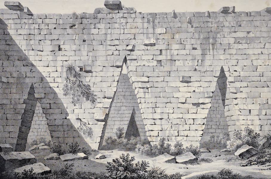 Views and descriptions of Cyclopian, or, Pelasgic remains - Pointed Gates in an Ancient City Missalongi (1834)