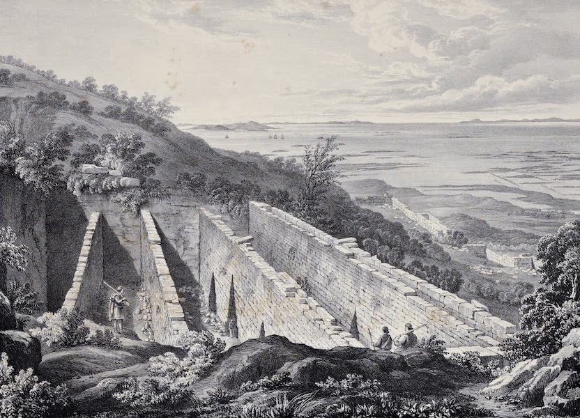 Views and descriptions of Cyclopian, or, Pelasgic remains - General View of the Pointed Gates (1834)