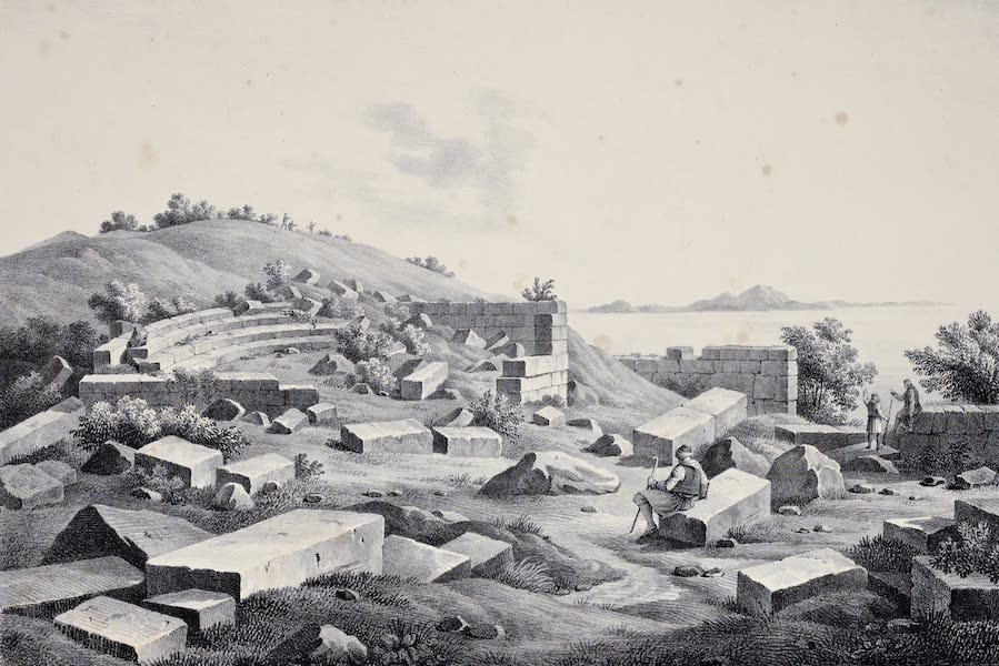 Views and descriptions of Cyclopian, or, Pelasgic remains - Small Theatre in the Same Ancient City (1834)
