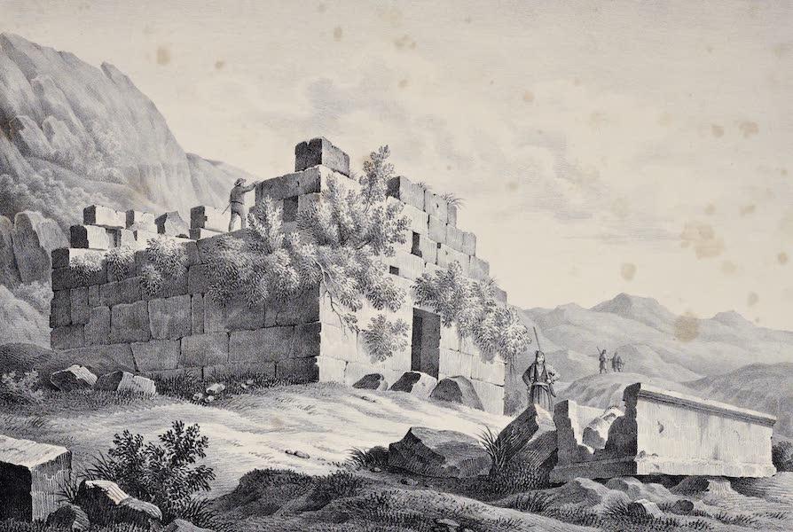Views and descriptions of Cyclopian, or, Pelasgic remains - Ancient Sepulchre near Delphi (1834)