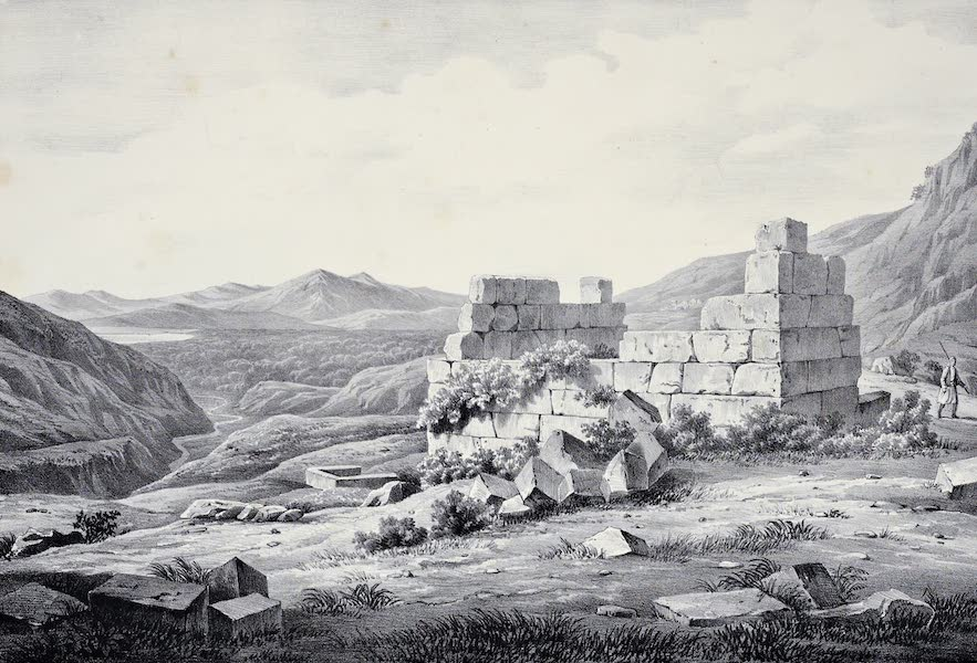 Views and descriptions of Cyclopian, or, Pelasgic remains - The Same Sepulchre with the Plain and Gulf of Krissa (1834)