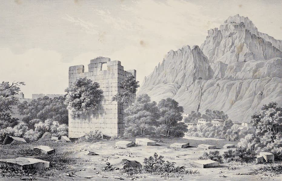 Views and descriptions of Cyclopian, or, Pelasgic remains - One of the Towers of Tithoraia (1834)