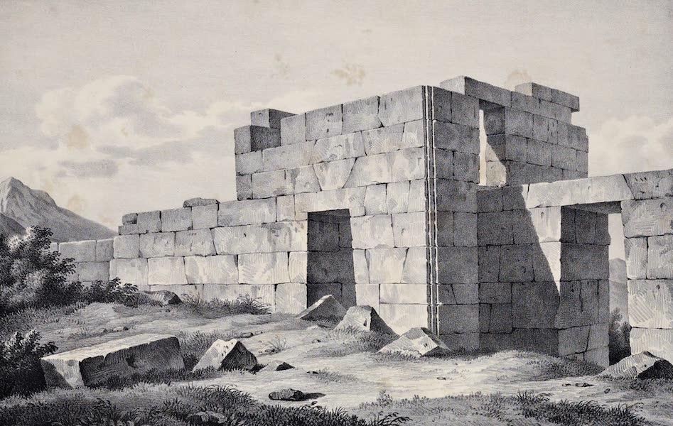 Views and descriptions of Cyclopian, or, Pelasgic remains - Tower and Gates at Eleutherai (1834)