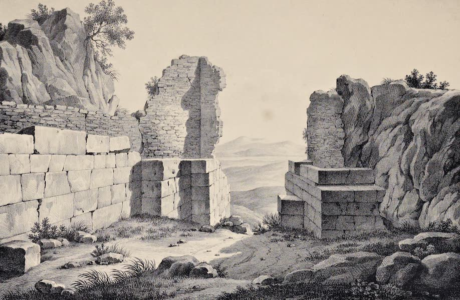 Views and descriptions of Cyclopian, or, Pelasgic remains - Gate in the Acropolis of Pharsalia (1834)