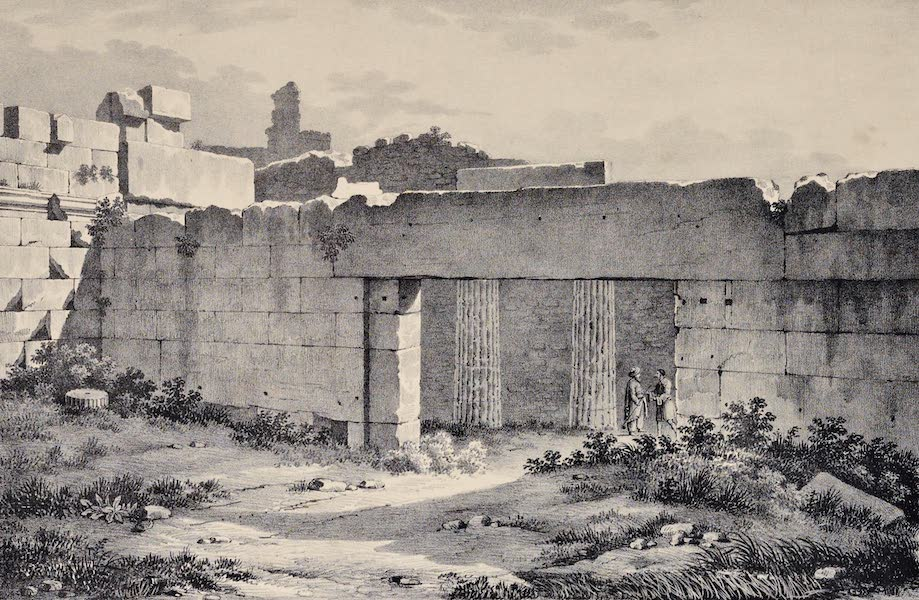 Views and descriptions of Cyclopian, or, Pelasgic remains - West Front of the Great Gate of the Propylea at Athens (1834)