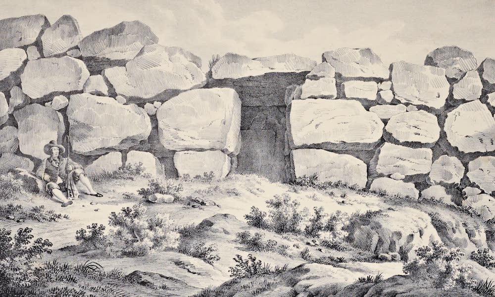 Views and descriptions of Cyclopian, or, Pelasgic remains - Another Gate at Norba (1834)