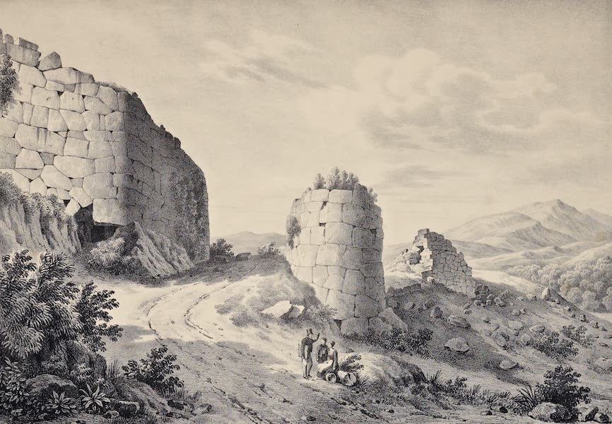 Views and descriptions of Cyclopian, or, Pelasgic remains - Great Gate at Norba (1834)
