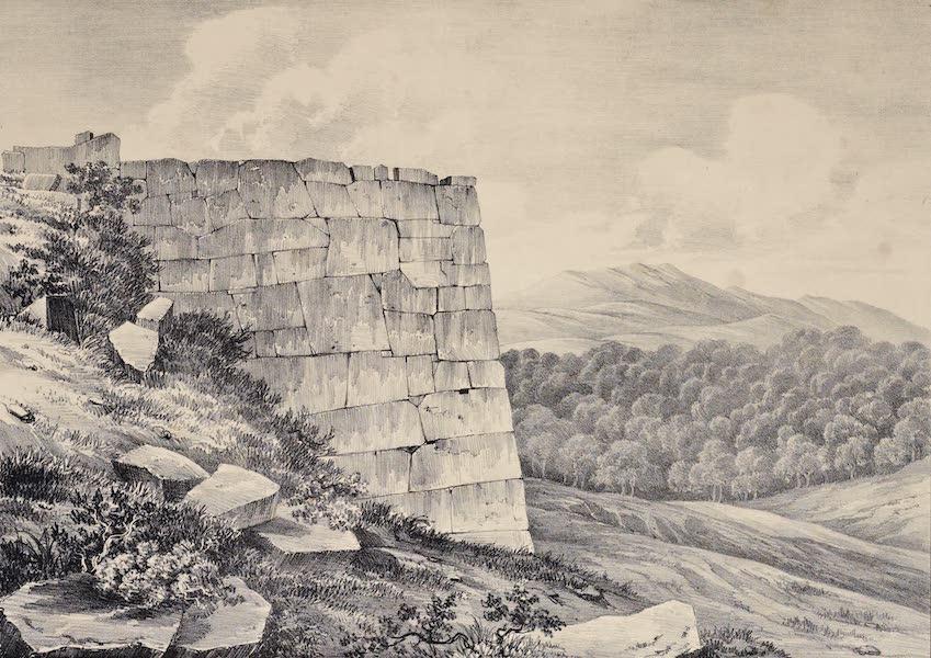 Views and descriptions of Cyclopian, or, Pelasgic remains - Bastion at Norba (1834)