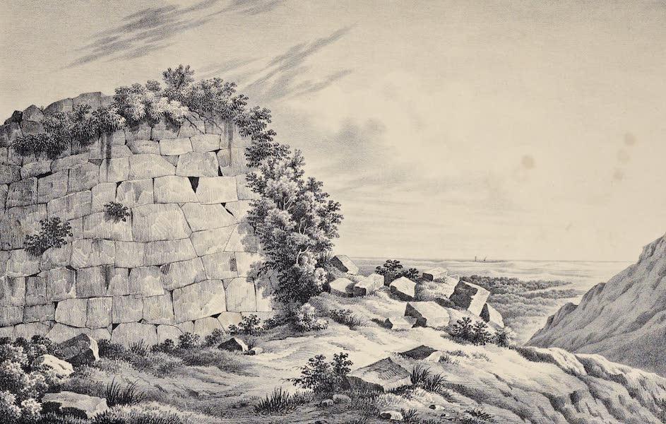Views and descriptions of Cyclopian, or, Pelasgic remains - Walls at Norba (1834)