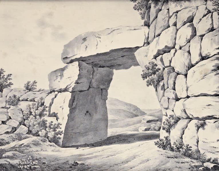 Views and descriptions of Cyclopian, or, Pelasgic remains - Porta Saracenica at Signia (1834)