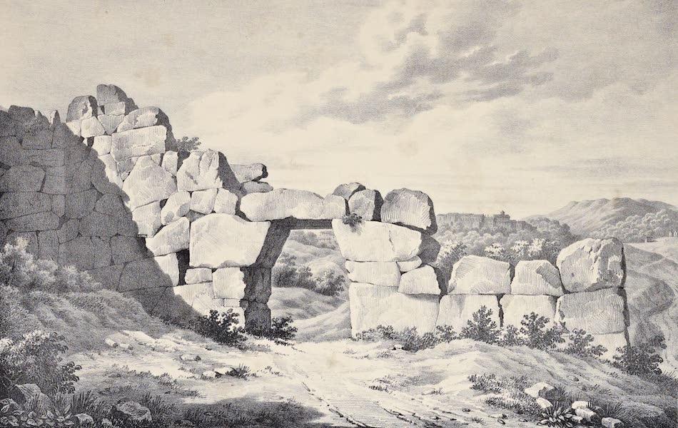 Views and descriptions of Cyclopian, or, Pelasgic remains - Interior of Porta Saracenica (1834)