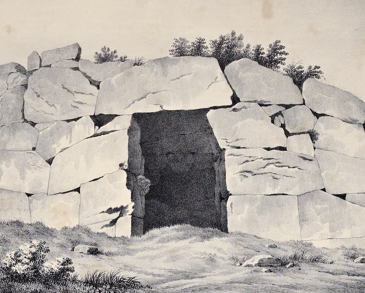 Views and descriptions of Cyclopian, or, Pelasgic remains - A Subterraneous Gate at Signia (1834)