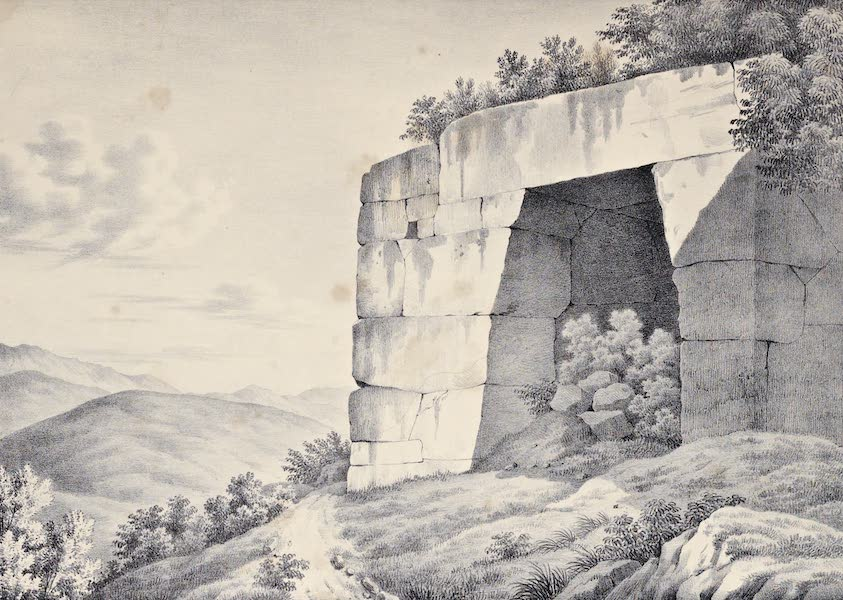 Views and descriptions of Cyclopian, or, Pelasgic remains - Another Gate at Signia (1834)